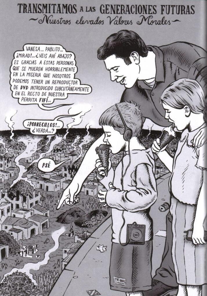 Nuestros elevados valores morales Ilustración de Miguel Brieva