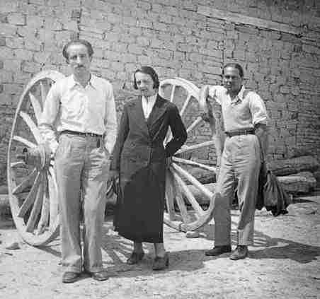 cernuda y zambrano en toledo 1935 (misiones pedagógicas)