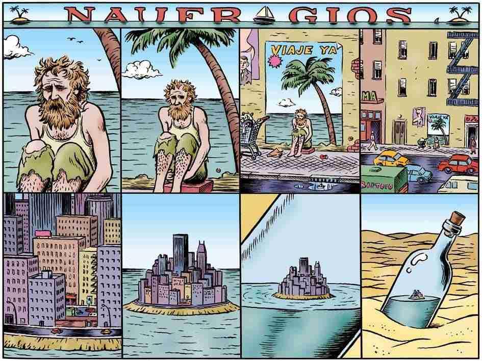Naufragios,ilustración de Miguel Brieva