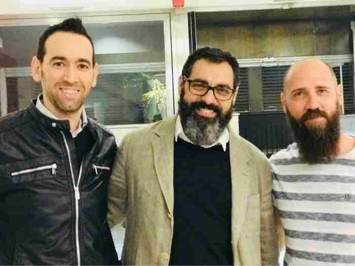 Eduardo Rodriguez Salas, Fernando Jaén y Javier Gilabert. Foto de Fernando Agustín Medina Molina