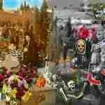 Litros o flores. La noche de Halloween o el Día de los muertos